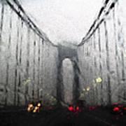 Verazanno Bridge Rain Photofresco Art Print