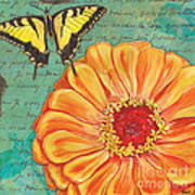 Verdigris Floral 1 Print by Debbie DeWitt