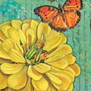 Verdigris Floral 2 Art Print