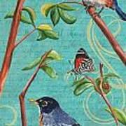 Verdigris Songbirds 1 Art Print