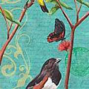 Verdigris Songbirds 2 Art Print