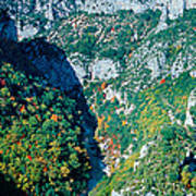 Verdon Gorge In Autumn Art Print