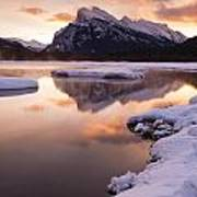 Vermillion Lakes In Banff National Park Art Print