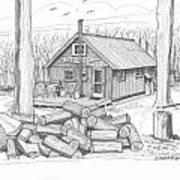 Vermont Hunter Lodge Art Print