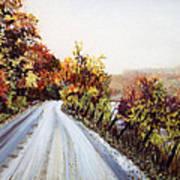 Vermont Road Art Print