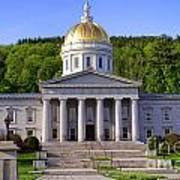 Vermont State Capitol In Montpelier  Art Print