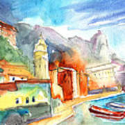 Vernazza In Italy 07 Art Print
