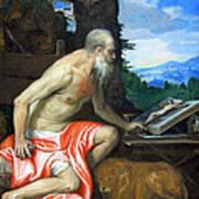 Veronese's Saint Jerome In The Wilderness Art Print