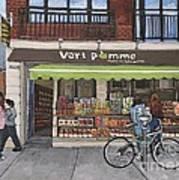 Vert Pomme  Fruiterie Meloche Et Fille Art Print