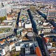 Vertical Aerial View Of Berlin Art Print