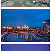 Vertical Collage - Kremlin View - Featured 3 Art Print