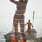 Veruschka Von Lehndorff Wearing Jumpsuit Art Print