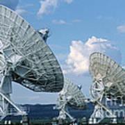 Very Large Array Of Radio Telescopes Art Print