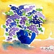 Vase With Lilas Flowers Art Print