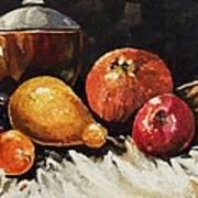 Vessel And Fruit Art Print