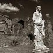 Vestal Virgin Courtyard Statue Art Print
