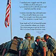Veterans Remember Art Print by Carolyn Marshall