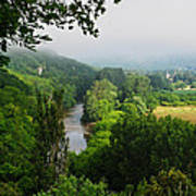 Vezere River Valley Art Print