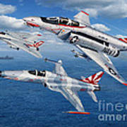 Vf-111 Sundowners Heritage Art Print by Stu Shepherd
