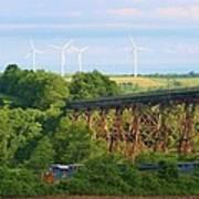 Viaduct And Train Art Print