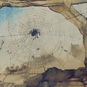 Vianden Through A Spider's Web Art Print by Victor Hugo