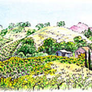 Viano Winery Martinez California Art Print