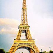 Vibrant Eiffel Tower Art Print