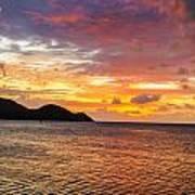 Vibrant Tropical Sunset Art Print