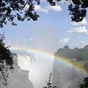 Victoria Falls Rainbow Art Print