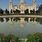 Victoria Memorial Kolkata India - Reflection On Water Art Print