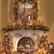 Victorian Christmas By The Fire Art Print