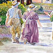 Victorian Gardeners Art Print