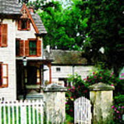 Victorian Home With Open Gate Art Print