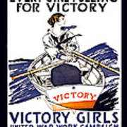Victory Girls Of W W 1     1918 Print by Daniel Hagerman