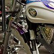 Victory Motorcycle Engine Art Print