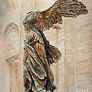 Victory Of Samothrace Art Print by Joey Agbayani