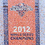 Victory Parade Banner For The San Francisco Giants As The 2012 World Series Champions Art Print by Scott Lenhart