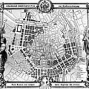 Vienna: Plan, 1860 Art Print