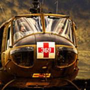 Vietnam Era Medivac 369 Helicopter Art Print