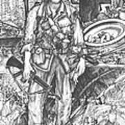 Vietnam Soldier Art Print