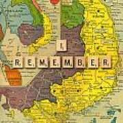 Vietnam War Map Art Print