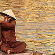 Vietnamese Boatman 01 Art Print