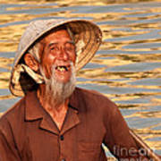 Vietnamese Boatman 02 Art Print