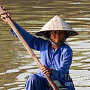 Vietnamese Boatwoman 02 Art Print