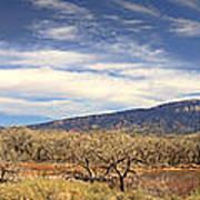 View Across The Rio Grande River Huge Panorama Art Print