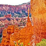 View At Beginning Of Navajo Trail In Bryce Canyon National Park-utah Art Print