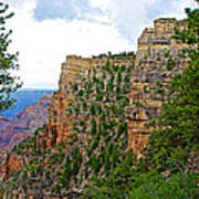 View Four From Walhalla Overlook On North Rim Of Grand Canyon-arizona Art Print