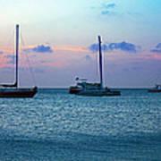 View From A Catamaran3 - Aruba Art Print