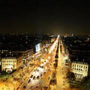 View From Arc De Triomphe - Paris France - 011318 Art Print