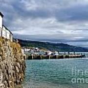 View From Back Beach - Lyme Regis Art Print